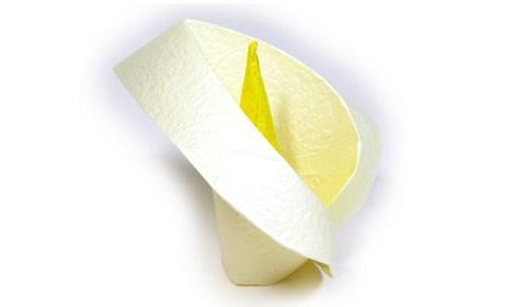 лилия из бумаги 22