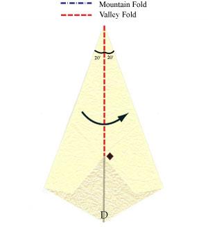 лилия оригами из бумаги 10