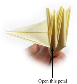 лилия оригами из бумаги 29