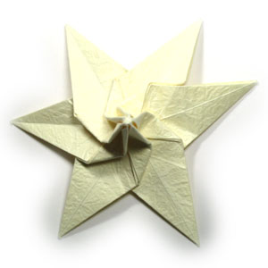 лилия оригами из бумаги 37