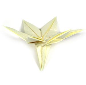 лилия оригами из бумаги 39