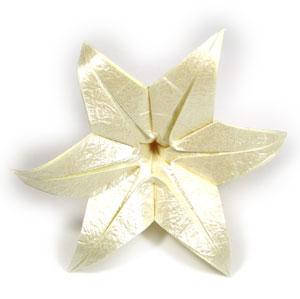 лилия оригами из бумаги 41