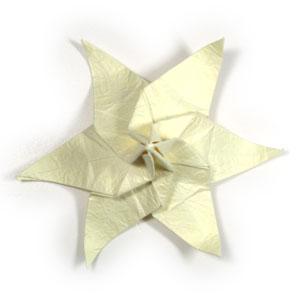 лилия оригами из бумаги 42