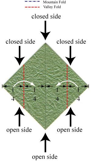 листочек оригами из бумаги 1