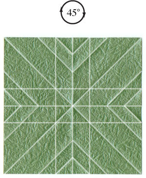 листочек оригами из бумаги 13