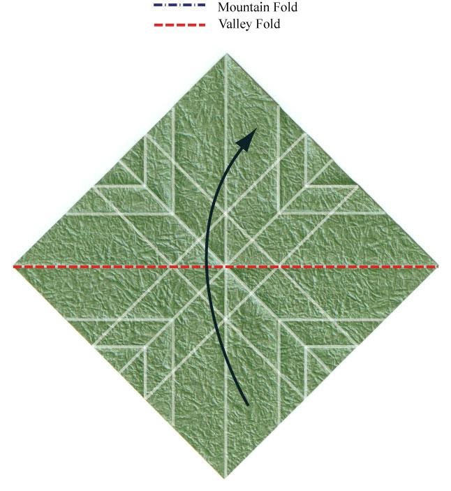листочек оригами из бумаги 14