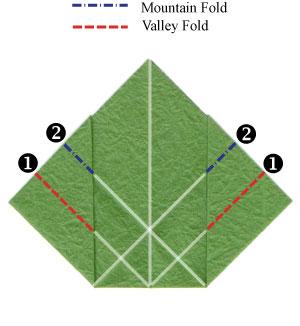 листочек оригами из бумаги 16