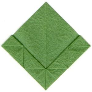 листочек оригами из бумаги 17