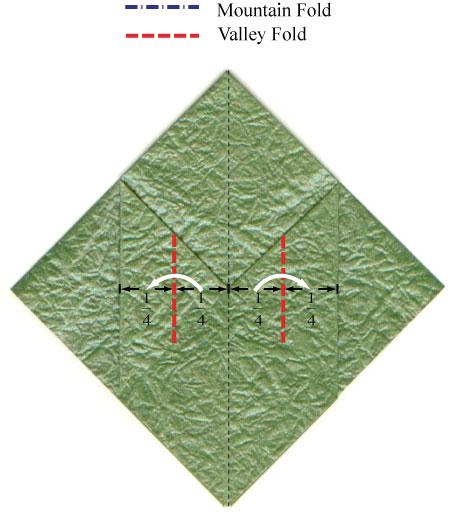 листочек оригами из бумаги 2