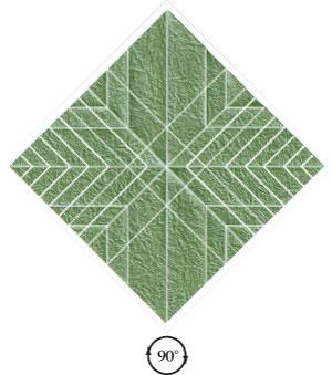 листочек оригами из бумаги 20