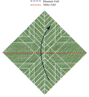 листочек оригами из бумаги 21