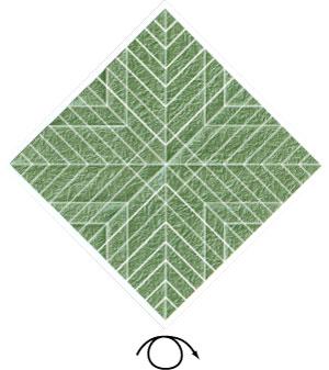 листочек оригами из бумаги 22