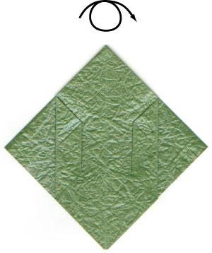листочек оригами из бумаги 3