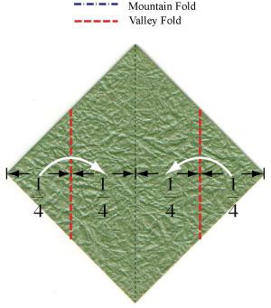листочек оригами из бумаги 4