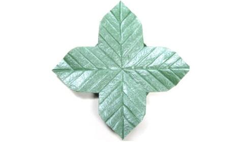 листочек оригами из бумаги 42