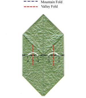 листочек оригами из бумаги 5