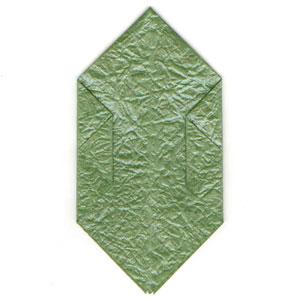 листочек оригами из бумаги 6