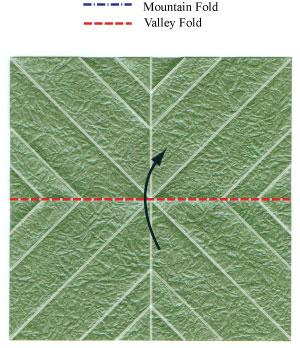 листочек оригами из бумаги 8