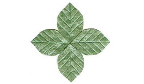 листочек оригами 45