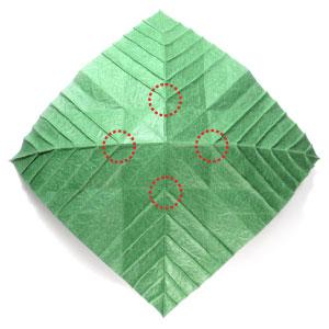 лист для деревьев оригами 1