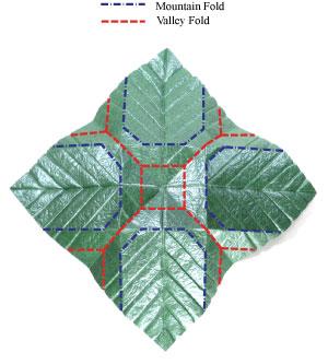 лист для деревьев оригами 10