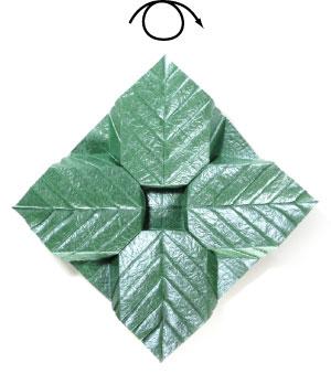 лист для деревьев оригами 11