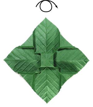 лист для деревьев оригами 12
