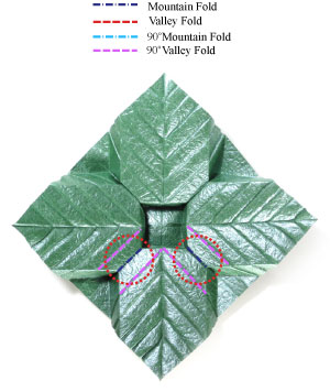 лист для деревьев оригами 13