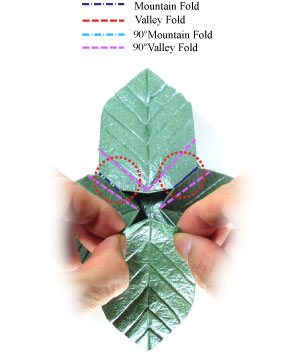 лист для деревьев оригами 14