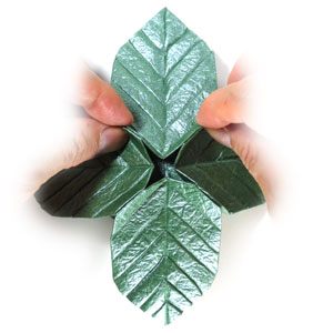 лист для деревьев оригами 15