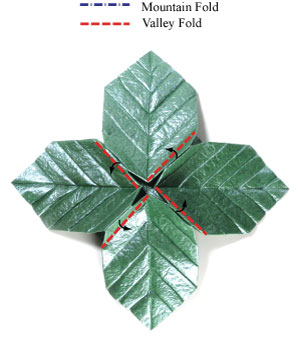 лист для деревьев оригами 16