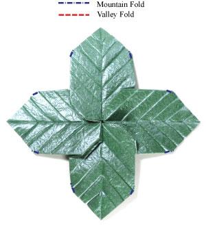 лист для деревьев оригами 17