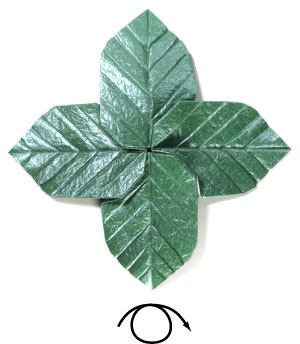 лист для деревьев оригами 18