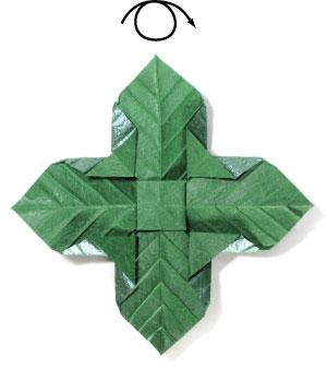 лист для деревьев оригами 19