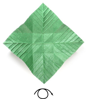 лист для деревьев оригами 2