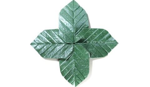 лист для деревьев оригами 22