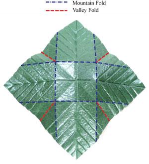 лист для деревьев оригами 3