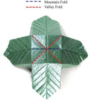 лист для деревьев оригами 4