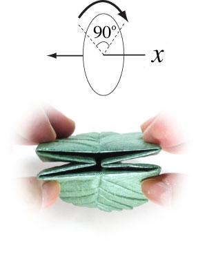лист для деревьев оригами 5