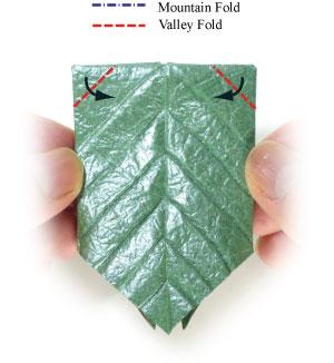 лист для деревьев оригами 6