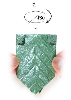 лист для деревьев оригами 7