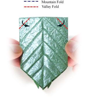 лист для деревьев оригами 8