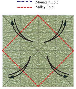 лист клевера оригами 10