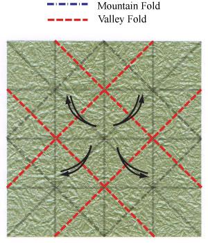 лист клевера оригами 11