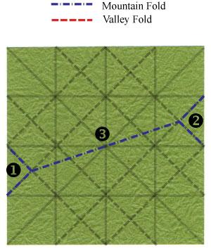лист клевера оригами 13