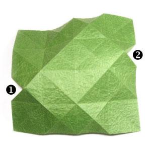лист клевера оригами 14