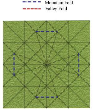 лист клевера оригами 23