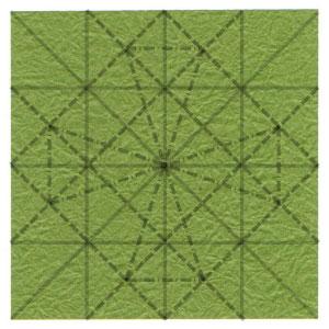 лист клевера оригами 24