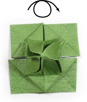лист клевера оригами 33