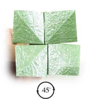 лист клевера оригами 34